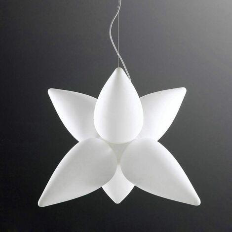 Palma 6 Bulbs E27 Outdoor Pendant Light IP44, matt white / opal white