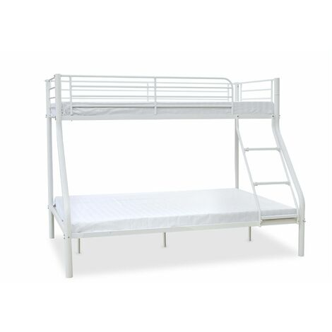 """main image of """"Palmdale Metal Triple Sleeper Bunk Bed, Single / Double (Frame Only) - Silver"""""""