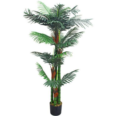 Philodendron Baumfreund Kunstpflanze Kunstbaum Künstliche Pflanze 190cm Decovego