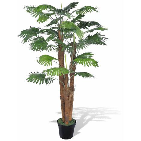 Palmera Fan artificial con aspecto natural en maceta, 180 cm