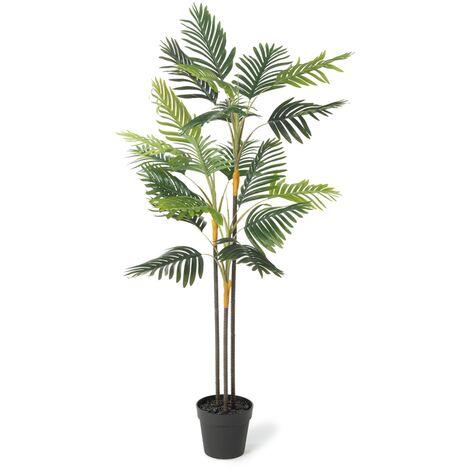 Palmier artificiel hauteur 150 cm plante avec pot
