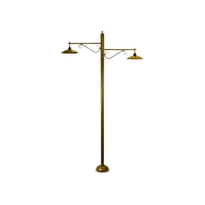 Palo ba-sonny 2 luci lampada terra rustica ottone esterno e27 ip43 - LAMPADARI BARTALINI