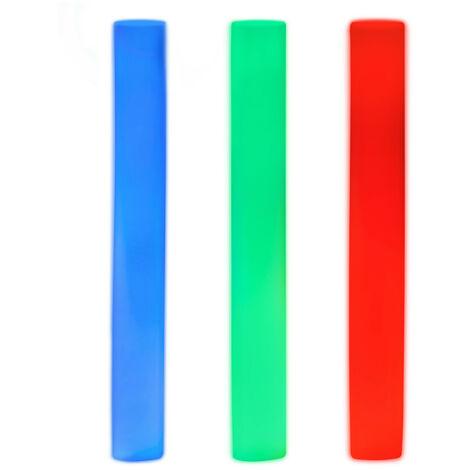 Palo Led, Barra Luz 3 Led, Varita Luminosa, 6 Modos, A Pilas, Cambia Color, Gomaespuma, 1 Ud., Rojo-Verde-Azul