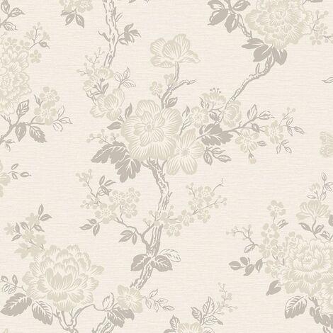 "main image of ""Paloma Cream Gold Wallpaper Rasch Textured Vinyl Glitter Paste The Wall"""