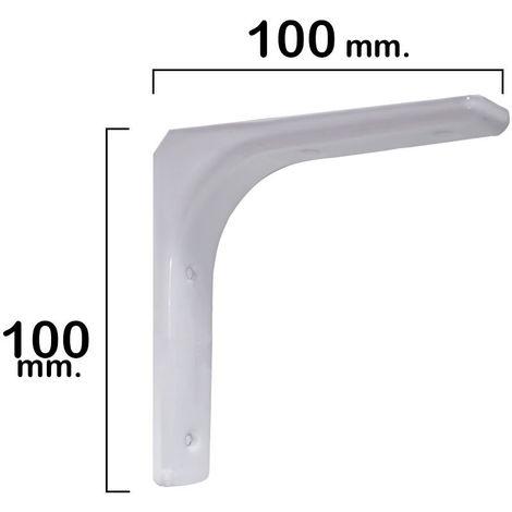 Palomilla reforzada blanca 100x100 mm.