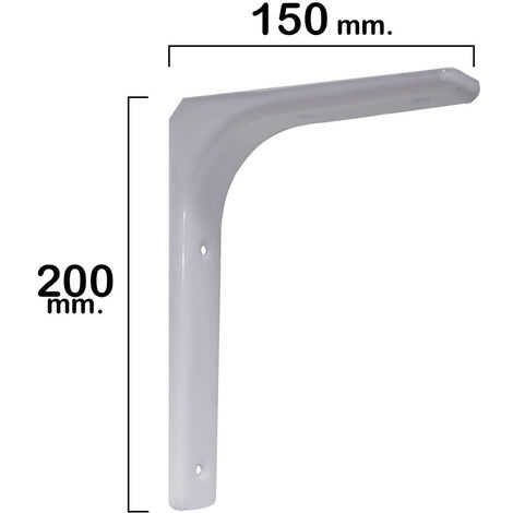 Palomilla reforzada blanca 200x150 mm.