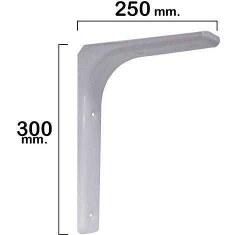 Palomilla reforzada blanca 300x250 mm.