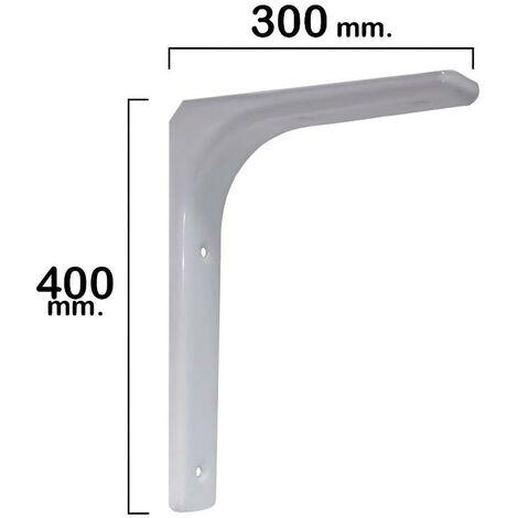 Palomilla reforzada blanca 400x300 mm.
