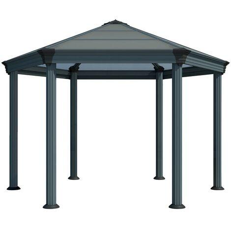 Palram Aluminium Gazebo Pavillon Roma 415x359 cm