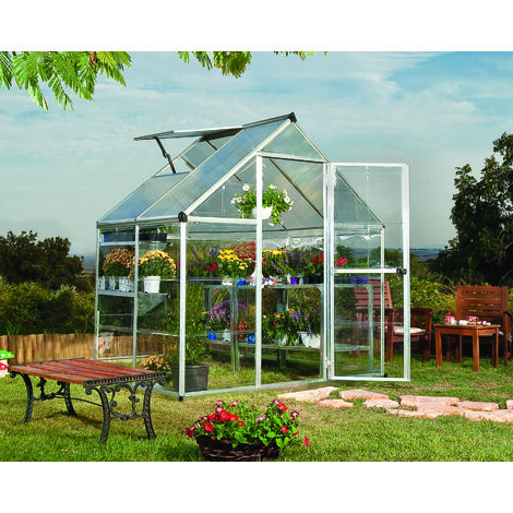"main image of ""Palram Harmony Aluminium Greenhouse 6 x 8' Green"""