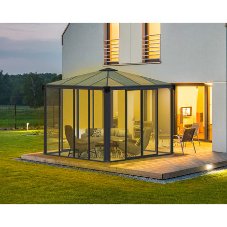 PALRAM Ledro 3000 Aluminium Wintergarten und Pavillon, 295x295 cm
