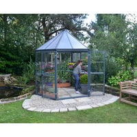 Palram Oasis Hexagonal Greenhouse - Grey