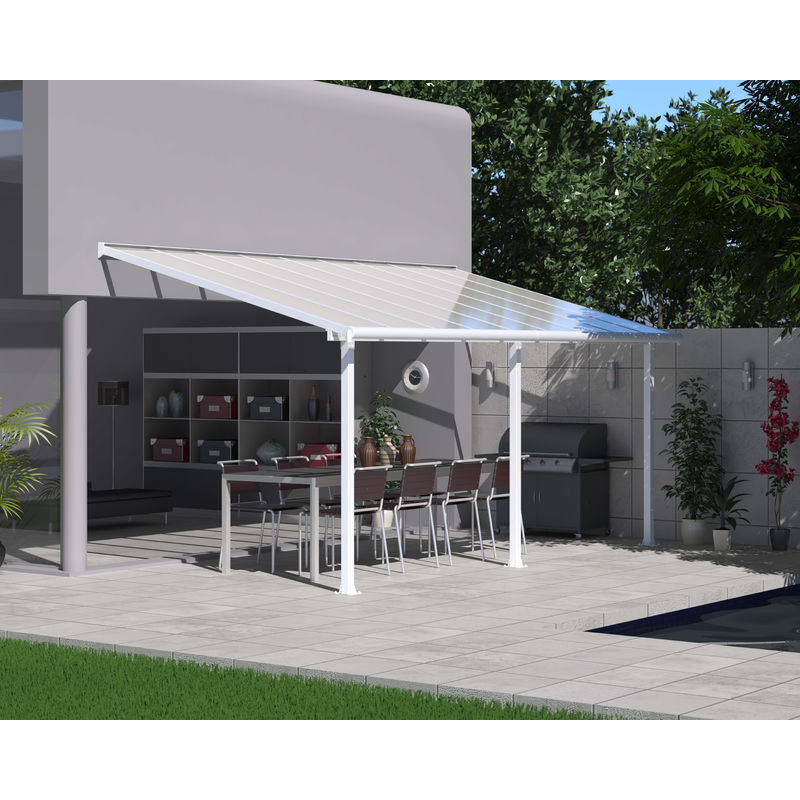Palram Olympia Patio Cover 3x5 46 White 704220