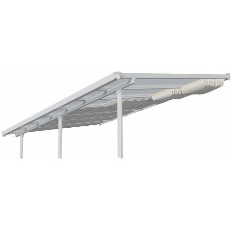 Palram Sonnensegel Terrassenüberdachung 300x305 cm Beschattung weiß