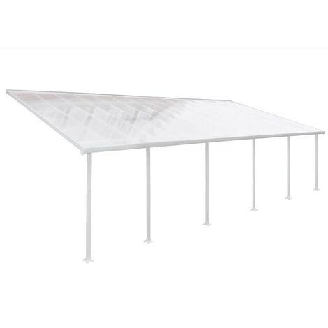Palram Terrassendach, Terrassenüberdachung 400x1031 cm weiß inkl. Regenrinnen