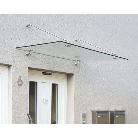 PALRAM Vordach, Schutzdach Taurus 1400 silber, klar 90x140 cm