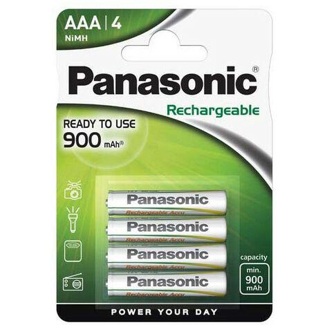 Panasonic 1x4 Accu NiMH Micro AAA 750 mAh Rechargeable - Rechargable Battery - Micro (AAA)