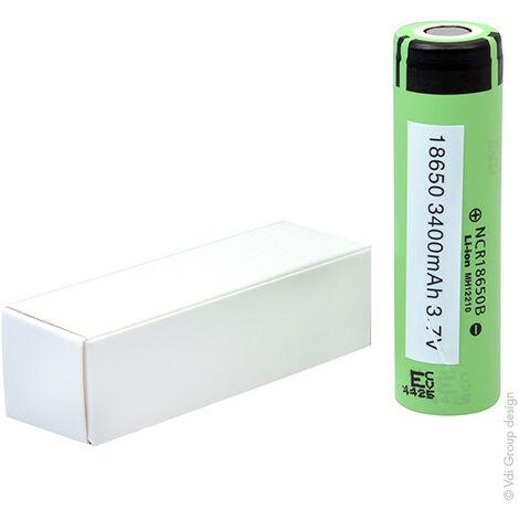 Panasonic - Accus Lithium-Ion PANASONIC NCR18650B 3.6V 3.4Ah FT