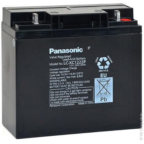 Panasonic - Batería plomo AGM PANASONIC LC-XC1222P 12V 22Ah M5-M