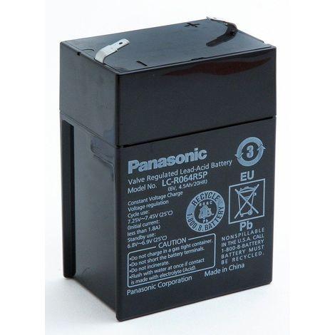 Panasonic - Batterie plomb AGM PANASONIC LC-R064R5P 6V 4.5Ah F4.8