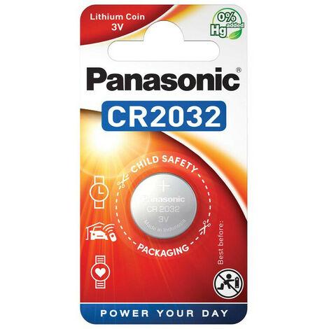 Panasonic CR2032 - Single-use battery - Lithium - 3 V - 220 mAh - Acier inoxydable - 2,9 g (CR-2032EL/1BP)