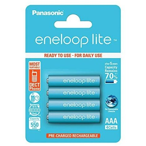 Panasonic Eneloop SY3052760 - Pack de 4 piles rechargeables, AAA