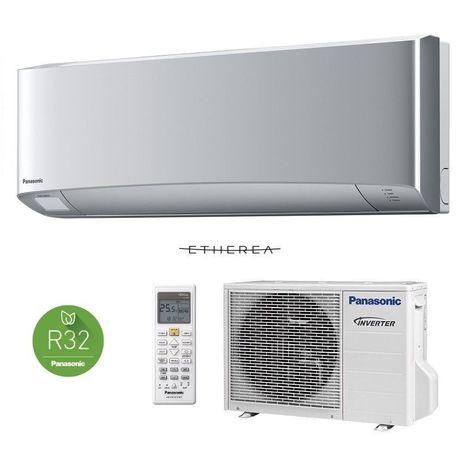 Panasonic Etherea 3,5kW Silber Klimaanlage Inverter Wärmepumpe Klimagerät SET
