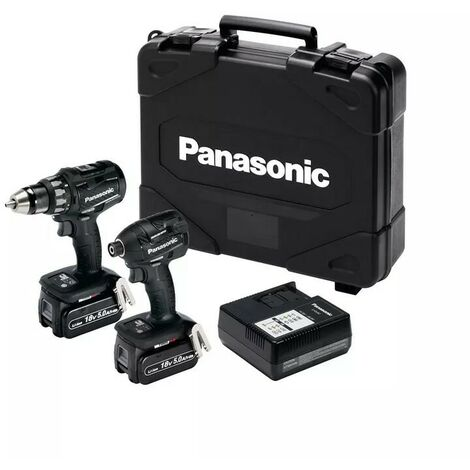 Panasonic EYC215LJ2G 18v Twin Drill & Impact Driver Pack with 2 x 5.0Ah Batteries