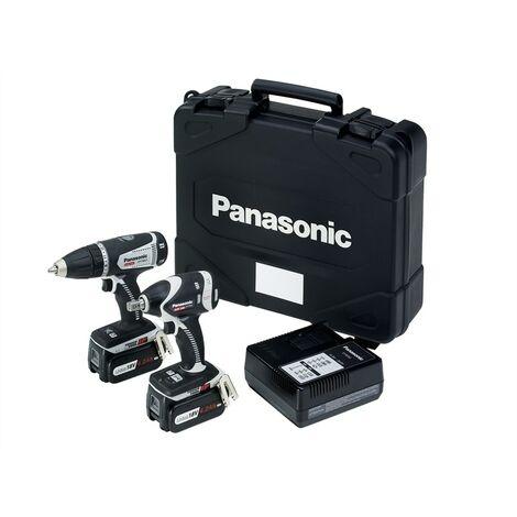 Panasonic PANC201LS2G EYC201LS2G Drill & Impact Wrench Twin Pack 14/18V 2 x 4.2Ah Li-ion