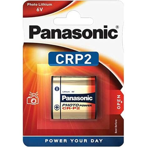 Panasonic Photo Power CR P2, pile lithium, 6 V, pour appareil photo (CR-P2L/1BP)