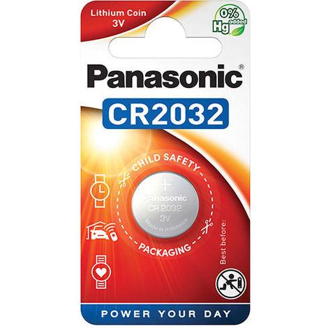 Panasonic - Pila botón litio blister CR2032 PANASONIC 3V 220mAh