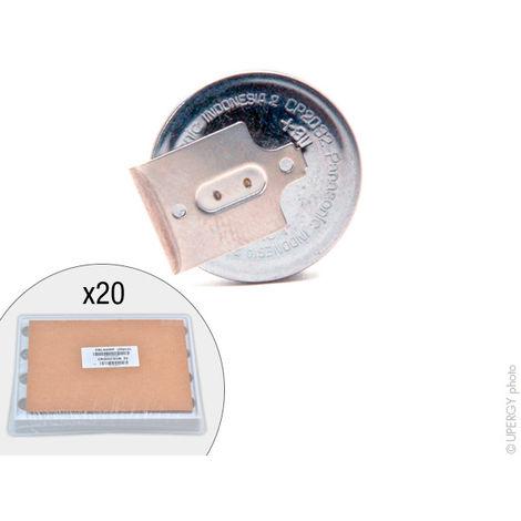 Panasonic - Pila botón litio CR2032/GUN PANASONIC 3V 220mAh