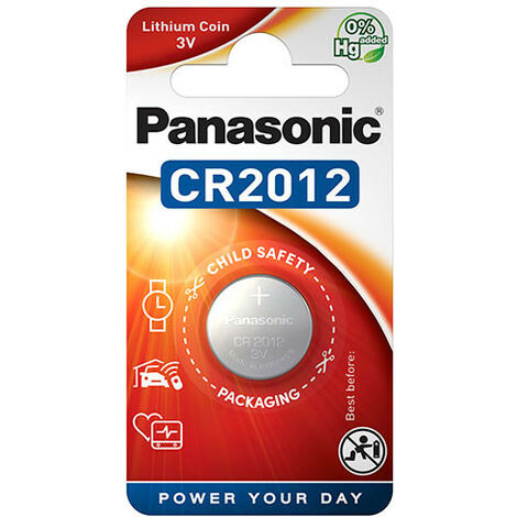 Panasonic - Pile bouton lithium blister CR2012 PANASONIC 3V 55mAh