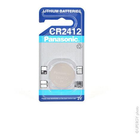 Panasonic - Pile bouton lithium blister CR2412 PANASONIC 3V 100mAh
