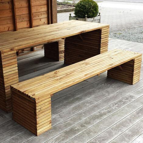 Panca BARCELONA legno di pino impregnato 200 x 44 x 43 h cm - Onlywood