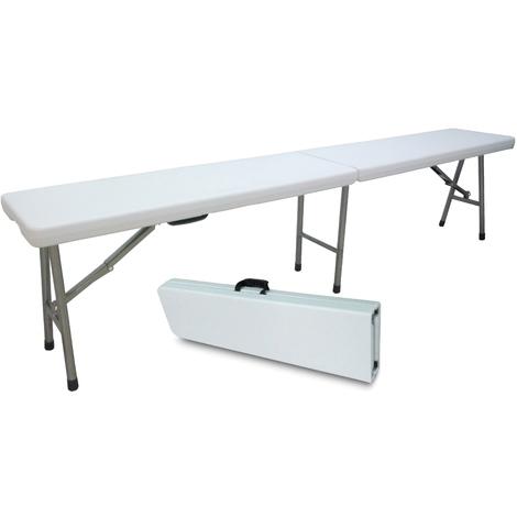 Gambe Metalliche Pieghevoli Per Tavoli.Panca Panchina Panchetta 183x25h44cm Pieghevole In Dura Resina Di