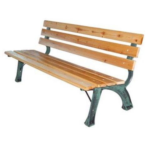"main image of ""Panchina da esterno in legno e ghisa Domus ""Strong"" cm. 160 (L) x 39 (P) x 72 (A)"""
