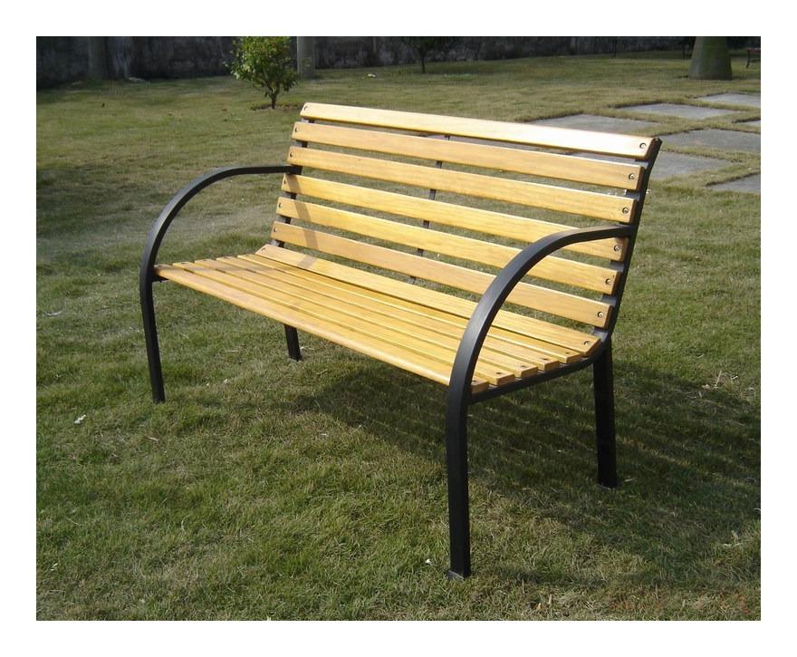 Panchine Da Giardino In Legno : Panchina da giardino in legno e metallo
