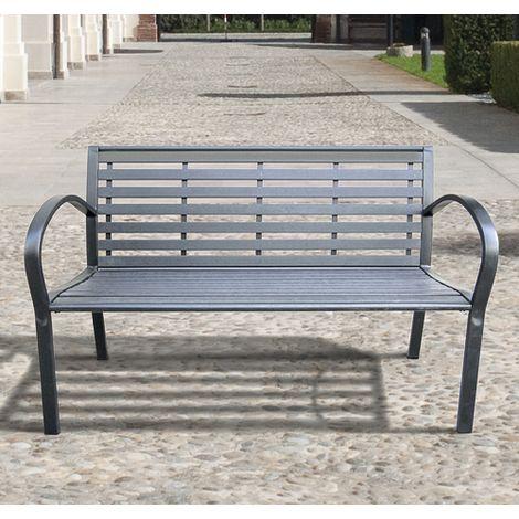panchina arredo Giardino Deuba Panchina da Giardino Colore: Antracite in plastica 145x49x74cm 3 posti
