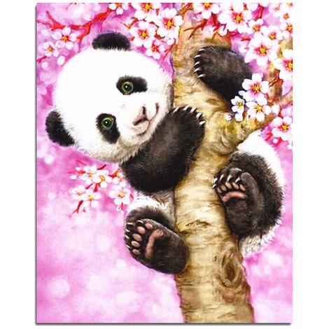 Panda 5D Diamond Embroidery Painting Flowers Tree Cross Stitch DIY Kits