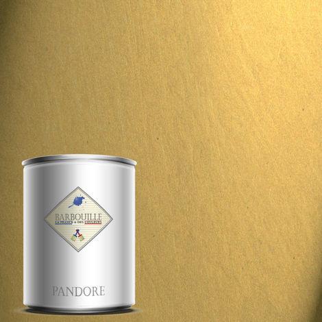 PANDORE 1 ltr - PEINTURE EFFET NACREE, METALLISEE COULEUR - OR JAUNE - LE PRECIEU. SPATULE OFFERT