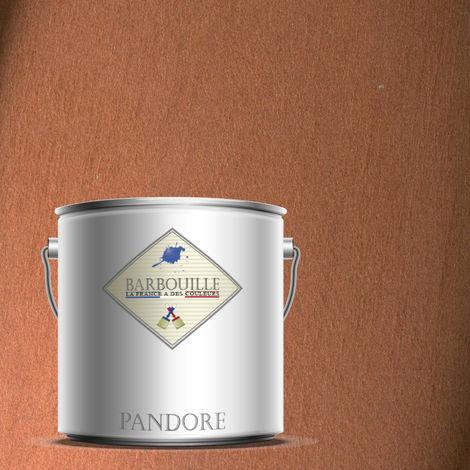 PANDORE 2.5 ltr - PEINTURE EFFET NACREE, METALLISEE COULEUR - CUIVRE - TALISMAN. SPATULE OFFERT