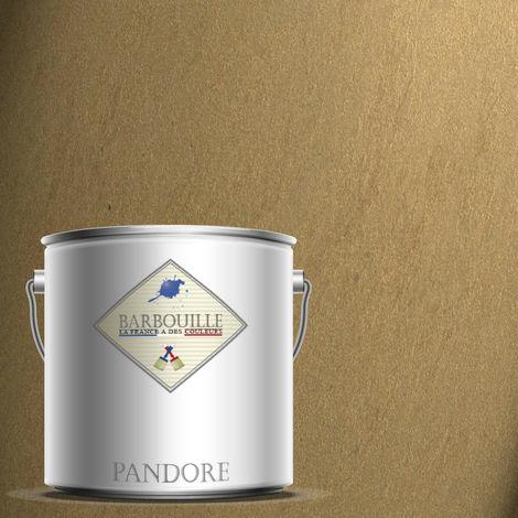 PANDORE 2.5 ltr - PEINTURE EFFET NACREE, METALLISEE COULEUR - OR BRUN - TERRA AMATA. SPATULE OFFERT