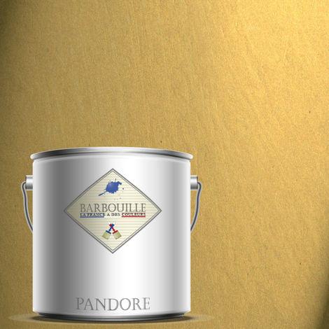 "main image of ""PANDORE 2.5 ltr - PEINTURE EFFET NACREE, METALLISEE COULEUR - OR JAUNE - LE PRECIEU. SPATULE OFFERT"""