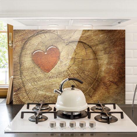 Panel antisalpicaduras de cristal - Natural Love - Horizontal 2:3 Dimensión LxA: 40cm x 60cm