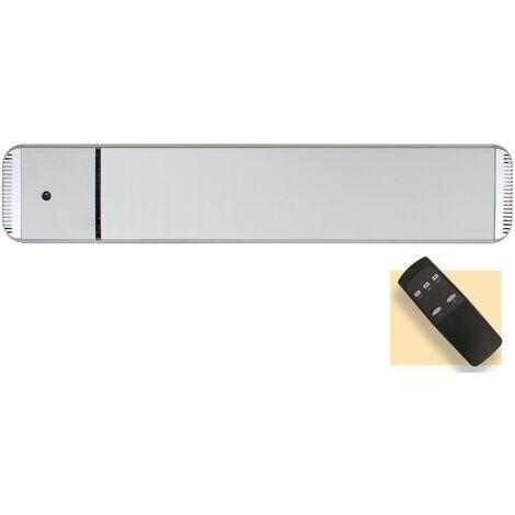 Panel calefactor radiante casafan 9815194 casatherm hottop / d 1500 gris plateado