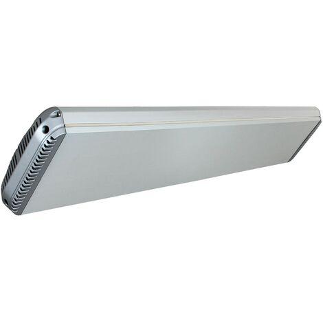 Panel calefactor radiante casafan 981819 casatherm hottop 1800 gris plateado