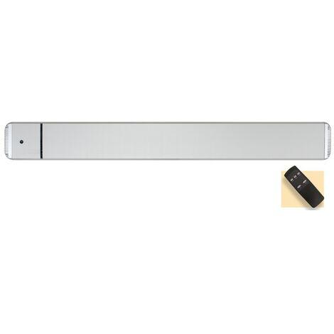 Panel calefactor radiante casafan 9832194 casatherm hottop / d 3200 gris plateado