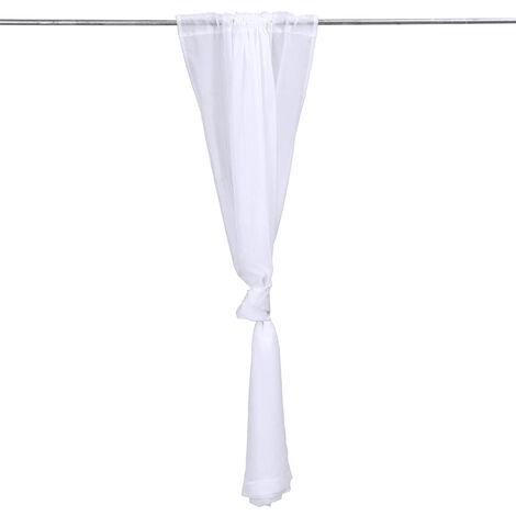 Panel de cortina blanco de poliéster de mosquitera de jardín de baño de boda al aire libre