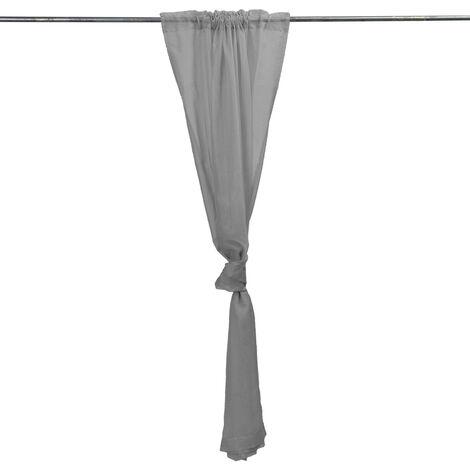 Panel de cortina gris de poliéster de mosquitera de jardín de baño de boda al aire libre